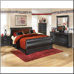 Signature Design by Ashley FurnitureSleigh Bedroom Set Huey Vineyard -B128 (SKU: AB-B128-OBR-SET)