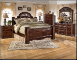 Gabriela Poster Bedroom Set with Traditional Design Signature Design by Ashley Furniture (SKU: AB- B347-POSTER-BR-SET)