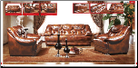 ESF  - 562 Spotty Brown Leather 2 Pcs - Classic Living Room Set (SKU: ESF- 562  Classic Leather LRS)