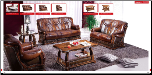 ESF  -Oakman Modern Leather Living Room Set (SKU: ESF- Oakman Modern Leather LRS)