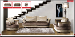 ESF  - 1016  2-tone fabric  Living Room Set (SKU: ESF- 1016 Modern fabric LRS)
