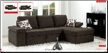 ESF - 1000 Modern  Sectional Sleeper in Full Fabric by European Style Furniture (SKU: ESF -1000-SECSET)