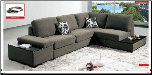 ESF - 1015 Modern  Sectional Sleeper in Full Fabric by European Style Furniture (SKU: ESF -1015-SECSET)