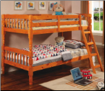 Twin/Twin Bunk Bed in Pine Finish by Coaster - 5040 (SKU: CO-5040)