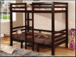 Twin/Twin Convertible Loft Bed in Cappuccino Finish by Coaster - 460263 (SKU: CO-460263)