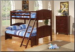 Cappuccino Finish Twin/Fulll Bunk Bed 460212 by Coaster