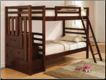 Bunks Twin Over Twin Bunk Bed by Coaster