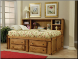 Wrangle Hill Twin Bookcase Bed with Under-Bed Storage by Coaster (SKU: CO-460091)