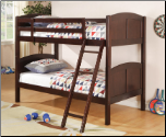 Cappuccino Twin Over Twin Bunk Bed - Coaster 460213