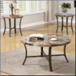 3 Piece Occasional Table Sets Coffee Table and End Table Set by Coaster