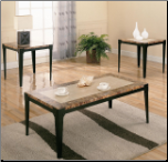 3 Piece Occasional Table Sets Coffee and End Tables by Coaster
