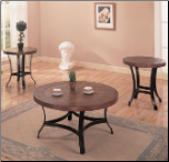 3 Piece Occasional Table Sets 3 Piece Occasional Table Set with Metal Bases by Coaster