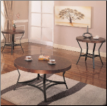 Prospect Plains Contemporary Metal Cocktail Table Set with Round Hammered Copper Look Top by Coaster (SKU: CO-720198)