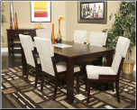 Signature Design by Ashley Ocean Park 7 Piece Rectangular Extension Table & Chair Set (SKU: AB-D561- 25 LDS)