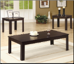 3 Piece Occasional Table Sets Casual Three Piece Occasional Table Set by Coaster