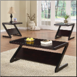 3 Piece Contemporary Occasional Table Set