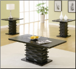 Contemporary 3 Piece Coffee Table and End Table Set (SKU: CO-701514)