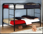 Bearcat Full Over Full Metal Bunk Bed - Black