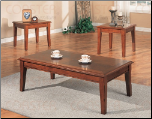 3 Piece Cherry Occasional Table Set