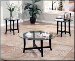 Contemporary 3 Piece Round Occasional Table Set (SKU: CO-700105)