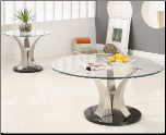 Milltown Contemporary Metal Cocktail Table Set with Glass Top by Coaster (SKU: CO-701258)