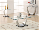Glass Top Coffee Table by Coaster - 701238 (SKU: CO-701238)