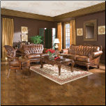 Leather Living Room Set, from Havana Collection by Coaster Furniture (SKU: CO500681-LR-SET)