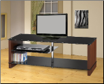 Coaster 700652 CHROME/CHERRY TV STAND