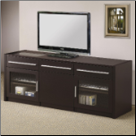 TV Stands Contemporary TV Console with Hidden Mobile Computer Caddy by Coaster (SKU: CO- 700674)
