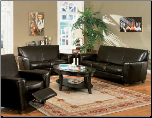 Bycast Leather Living Room Set, from Havana Collection by Coaster Furniture