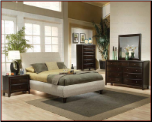 Phoenix Fabric Platform Bed - 300369 - Coaster Furniture (SKU: CO-  300369-QSET)