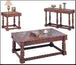 Dewey Casual Rectangular Cocktail Table  Set with Slate Tile Top by Coaster (SKU: CO-3863)