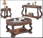 oaster Doyle Traditional Oval Cocktail Table with Glass Inlay Top (SKU: CO-3892)