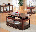 Evans Contemporary Rectangular Lift Top Cocktail Table Set with Storage by Coaster (SKU: CO-700246)