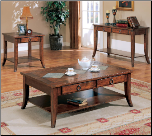 Franklin Rectangular Cocktail Table Set with Slate Tile Top and Storage by Coaster (SKU: CO-700258)