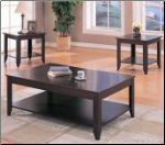 3 Piece Occasional Table Set with Shelves by Coaster