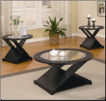 3 Piece Round Occasional Table Set by Coaster