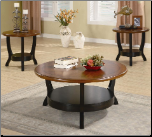 3 Piece Occasional Table Sets 3 Piece Two Tone Occasional Table Set by Coaster