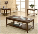 3 Piece Occasional Table Sets 3 Piece Coffee and End Table Set by Coaster