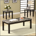3 Piece Occasional Table Sets 3 Piece Coffee Table and End Table Set by Coaster