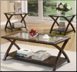 3 Piece Occasional Table Sets Coffee and End Table Set by Coaster
