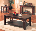 Abernathy Rectangular Coffee Table with Shelf by Coaster