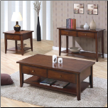 Whitehall Coffee Table Set  w/ Shelf & Drawers by Coaster (SKU: CO-700958)