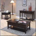 Whitehall Coffee Table Set  w/ Shelf & Drawers by Coaster (SKU: CO-700968)