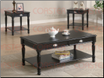 3 Piece Occasional Table Sets Traditional Coffee Table and End Table Set by Coaster