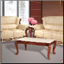 632 Collection Khaki Leather 2 PC Living Room Set (Sofa and Loveseat)