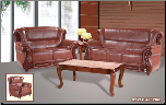 632 Collection Brown Leather 2 PC Living Room Set (Sofa and Loveseat)