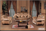 Traditional Styled Imported Fabric Living Room Set (SKU: EM-656)