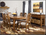 Kelvin Hall 9-Piece Rectangular Extension Table Dining Set with 2 Arm Chairs & 6 Side Chairs by Signature Design by Ashley (SKU: AB-D689)