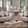 Chic Fabric 2 PC Living Room Set in Lacatta Finish (Sofa and Loveseat)